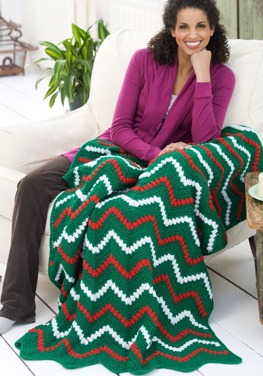 Zigzag Christmas Throw and Pillow
