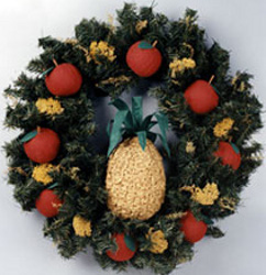 Apple and Pineapple Wreath