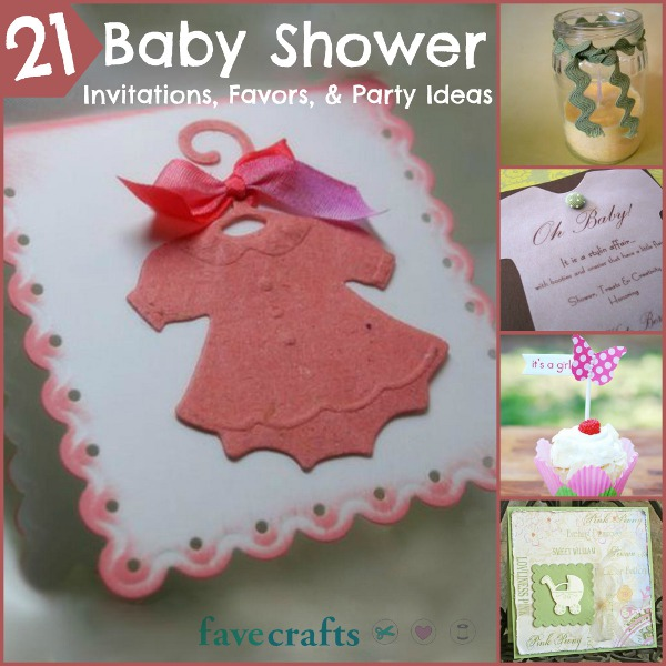 21 baby shower invitations, favors, and diy party ideas