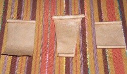 Brown Paper Bag Beads and Pendant