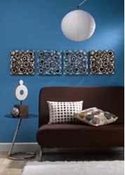 Blue And Brown Circles Wall Art