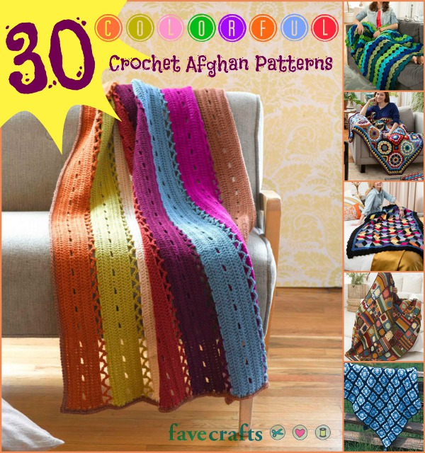30 Colorful Crocheted Afghan Patterns