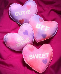 Conversation Heart Pillows