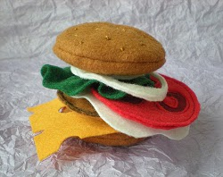 Felt Hamburger Tutorial