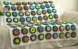 A Field of Flower Squares Afghan