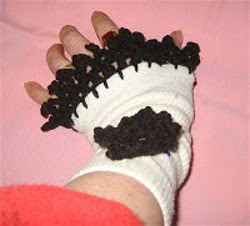Fingerless Gloves Made From Socks