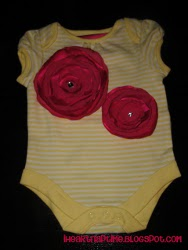 Rose Petal Onesie and Matching Headband