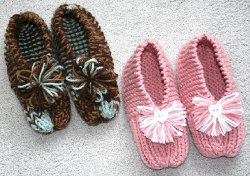 Grandma's Simple Knit Slippers
