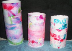 Tie-Dyed Luminaries