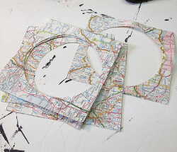 Mod Podge Map Coasters