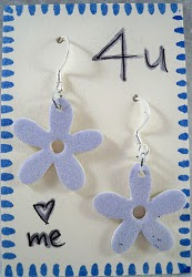 Matboard Flower Earrings
