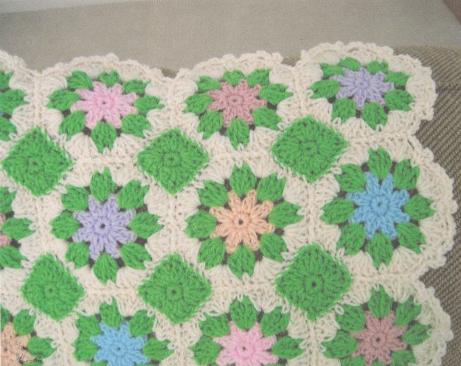 Pastel Multi-Colored Floral Afghan