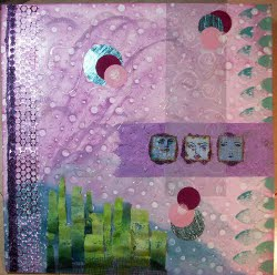 Mixed Media Pink Collage