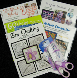 Collection of Quilting Books, Patterns and Westcott Scissors Giveaway