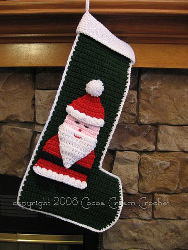 Crochet Santa Stocking