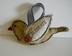 Scrappy Bird Ornament