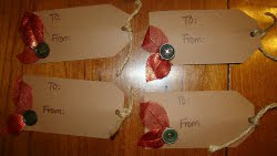 Silk Leaf Christmas Tags