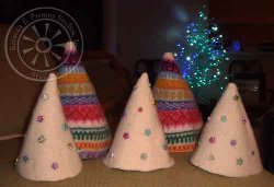 Recycled Sweater Mini Trees