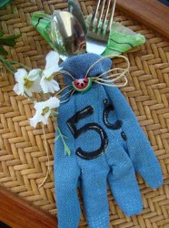 Garden Glove Utensil Holder and Napkin
