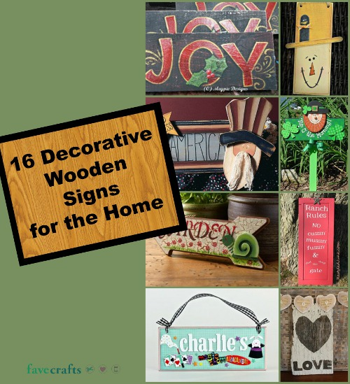 16 Decorative Wooden Signs for the Home