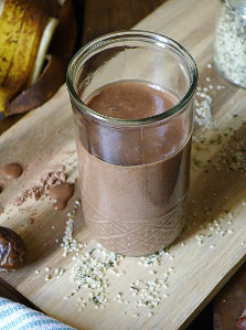 All Natural Chocolate Milkshake