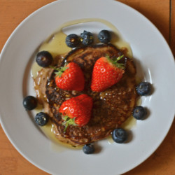 Almond Flax and Banana Pancakes