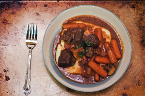 Baked Beef and Red Wine Stew