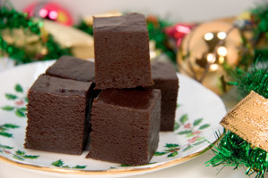 Chocolate Eggnog Fudge