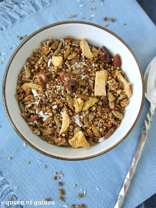 Maple Apple Quinoa Granola