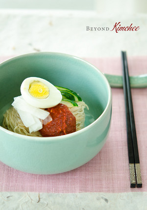 Korean Style Spicy Cold Soba Noodles