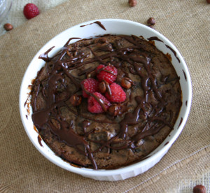 Nutella Raspberry Bread Pudding