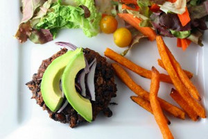5 Ingredient Black Bean Burgers