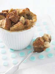 Whole Grain Bread Pudding with Caramelized Bananas