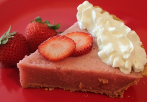 Double Strawberry Smoothie Pie