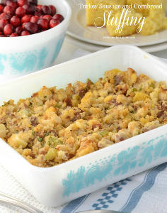 Fresh Turkey Sausage and Cornbread Stuffing
