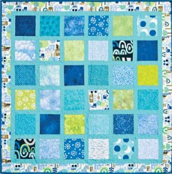 Framed Charm Squares Baby Quilt