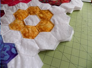Grandmother's Flower Garden Quilted Pillowcases