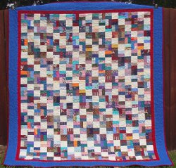 Playing with Bricks Scrap Quilt