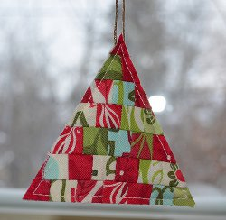 Modern Patchwork Christmas Tree Ornaments