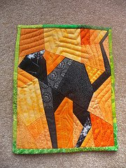 Paper Pieced Black Cat Quilt Block | FaveQuilts.com : halloween quilt blocks - Adamdwight.com