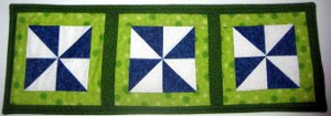 Pinwheel Quilt Table Runner
