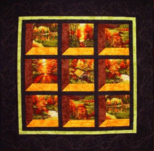 Changing Seasons Attic Windows Quilt