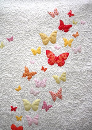 Butterflies A Flutter Baby Quilt Pattern