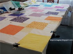 How To Baste A Quilt On A Table Favequilts Com