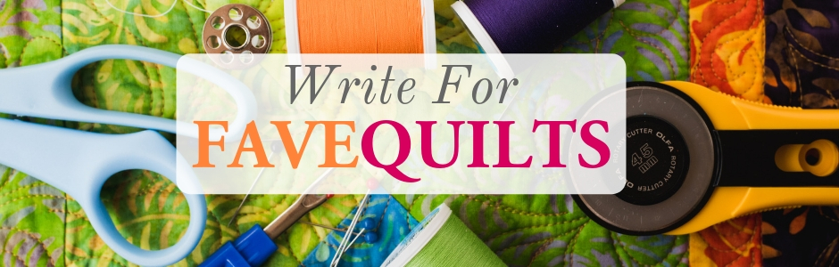 Write for FaveQuilts