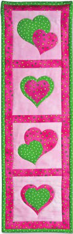 Applique Hearts Quilted Wall Display