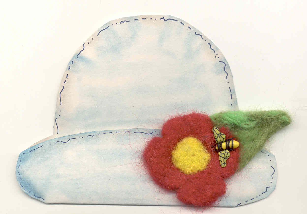 Bee in my Bonnet Felt Card
