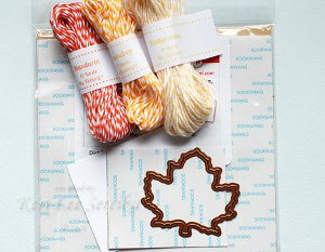 Festive Die-Cut Twine Leaves