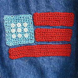 Crocheted Flag on a Jacket