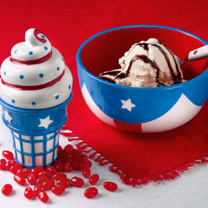 Patriotic Ice Cream Bowl and Cone Box